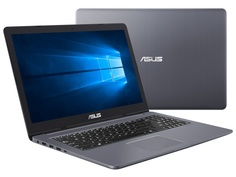 Ноутбук ASUS N580GD-E4311T 90NB0HX4-M04560 Metal Steel Grey (Intel Core i5-8300H 2.3 GHz/16384Mb/1000Gb + 256Gb SSD/No ODD/nVidia GeForce GTX 1050 2048Mb/Wi-Fi/Bluetooth/Cam/15.6/1920x1080/Windows 10 64-bit)