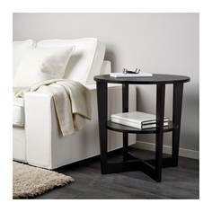 ВЕЙМОН Придиванный столик, черно-коричневый Ikea