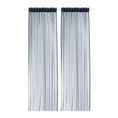 ГЕРТРУД Гардины, 2 шт., темно-синий Ikea