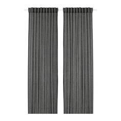 ЛЕЙОНГЭП Гардины, 1 пара, темно-серый Ikea