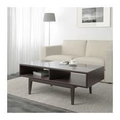РЕЖИССЁР Журнальный стол, коричневый, стекло Ikea