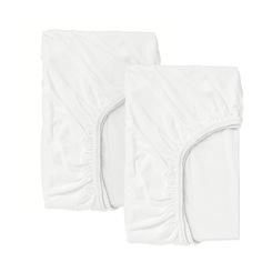 ЛЕН Простыня натяжн для кроватки, белый Ikea
