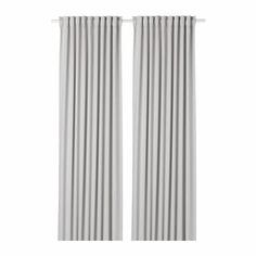 МАЙГУЛЛ Гардины, блокирующие свет, 1 пара, светло-серый Ikea