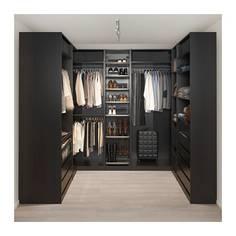 ПАКС Гардероб угловой, черно-коричневый Ikea