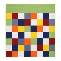 ЛАТТО Ковер, короткий ворс, разноцветный Ikea