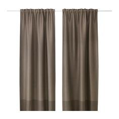 МАРЬЮН Гардины, блокирующие свет, 1 пара, коричневый Ikea