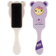 Расческа для волос с ушками MISS PINKY FUNNY ANIMALS фиолетовая