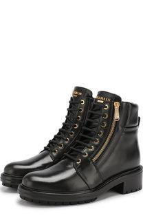 Кожаные ботинки Army на шнуровке Balmain