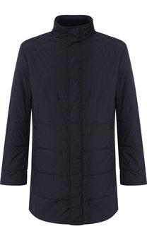 Утепленная куртка на молнии с воротником-стойкой Kiton