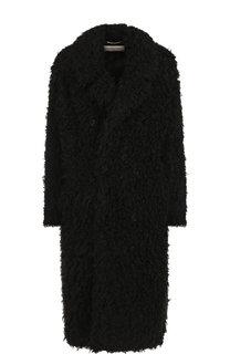 Двубортное меховое пальто Saint Laurent