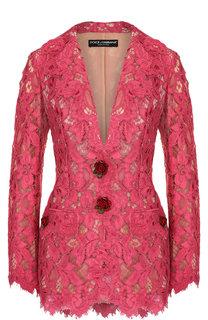 Кружевной жакет с декоративными пуговицами Dolce & Gabbana