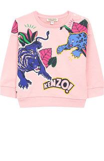Хлопковый свитшот с принтом Kenzo