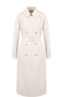 Двубортное пальто из смеси шерсти и шелка Loro Piana