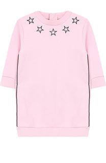 Хлопковое платье с принтом Givenchy