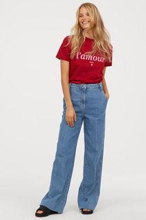 Широкие джинсы H&M