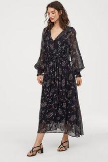 Платье с рисунком и оборками H&M