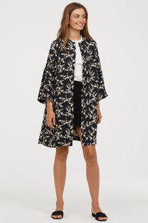 Пальто с рукавами-оборками H&M
