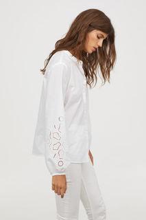 Блузка с пышным рукавом H&M