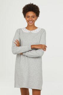 Платье-свитшот с воротничком H&M