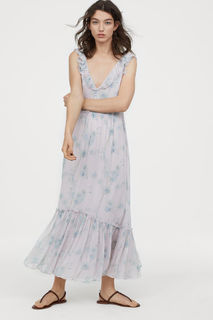 Длинное платье с оборками H&M