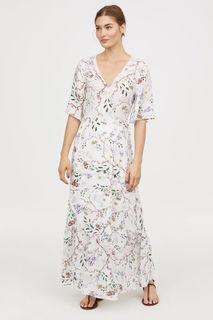 Платье с рисунком на запахе H&M