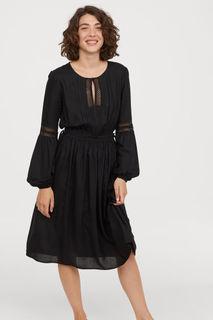 Платье с ажурной вышивкой H&M