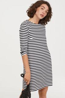 Платье из хлопкового трикотажа H&M