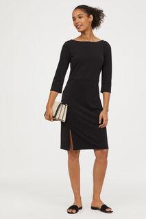 Платье с вырезом лодочкой H&M