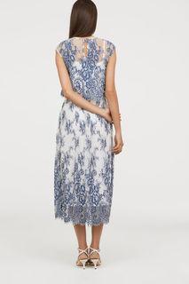 Платье из тюля с кружевом H&M