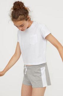 Короткие байковые шорты H&M