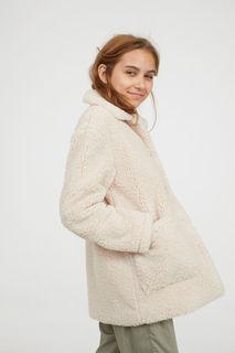 Плюшевое пальто H&M