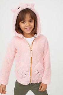 Плюшевая куртка с капюшоном H&M