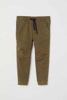 Твиловые брюки без застежек H&M