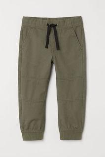 Хлопковые брюки на резинке H&M
