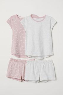 2 трикотажные пижамы H&M