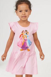 Трикотажное платье с принтом H&M