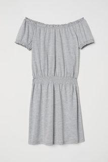 Платье с вафельной сборкой H&M