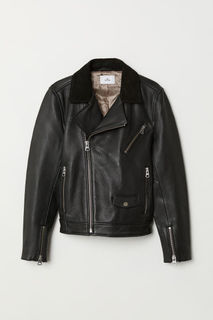Кожаная байкерская куртка H&M
