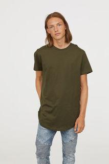 Трикотажная футболка из хлопка H&M