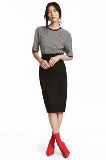 Трикотажная юбка-карандаш H&M
