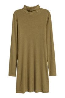 Платье из рельефного трикотажа H&M