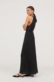 Длинное платье с кружевом H&M