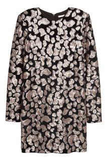 Велюровое платье с пайетками H&M