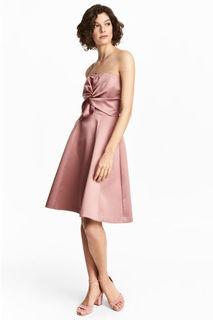 Короткое платье бандо H&M