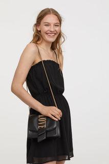 Шифоновое платье без рукавов H&M