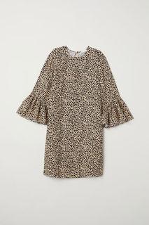 Платье с оборками на рукавах H&M