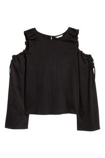 Топ с открытыми плечами H&M
