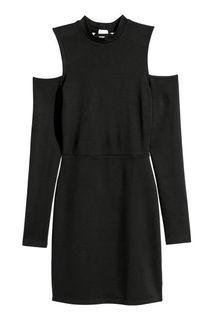 Платье с вырезами на плечах H&M