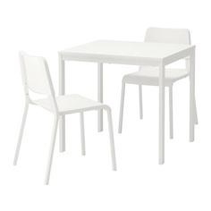 ВАНГСТА / ТЕОДОРЕС Стол и 2 стула, белый, белый Ikea