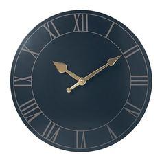 ПОЛЛЕТТ Настенные часы, темно-синий Ikea